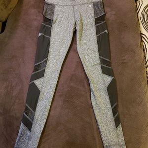 Gray Mesh Side Leggings